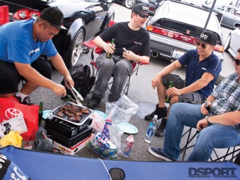 BBQ in the car show area at IDRC