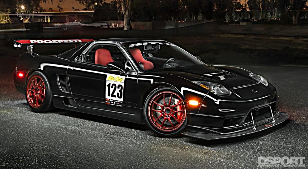 Acura NSX at night