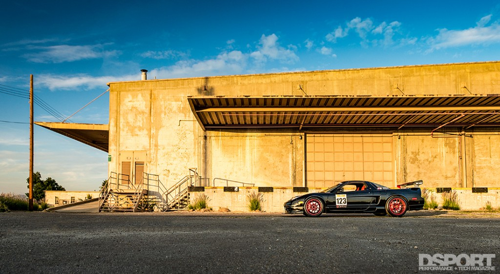 Acura NSX by a building