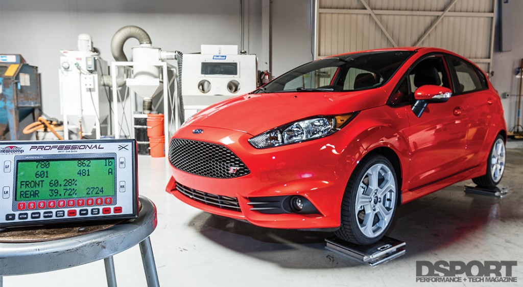 Weighing a stock Ford Fiesta