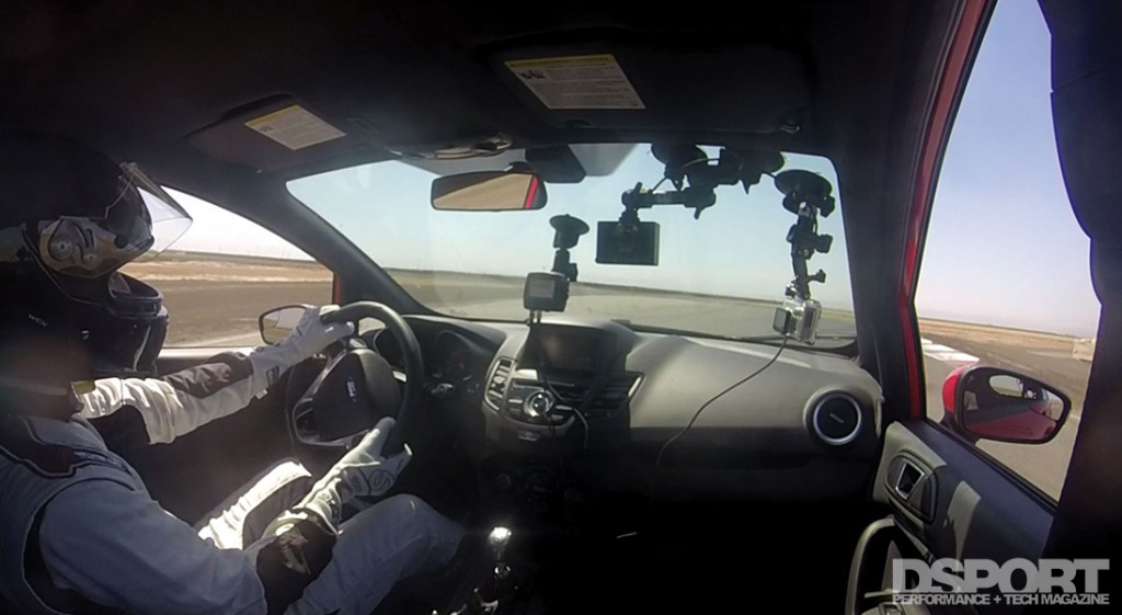 In-car view of Project Fiesta