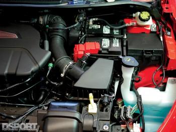 Mountune intake kit on the Ford Fiesta