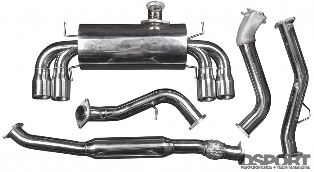 TurboXS exhaust kit for Subaru STi E85 Test