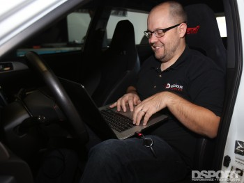Bill Knose tuning the STI for E85 Flex Fuel Kit