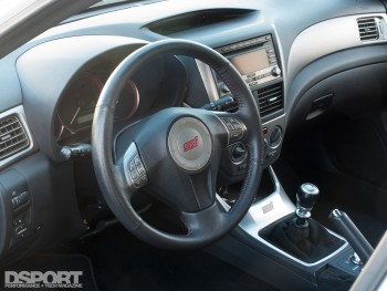 Interior of Subaru Sti