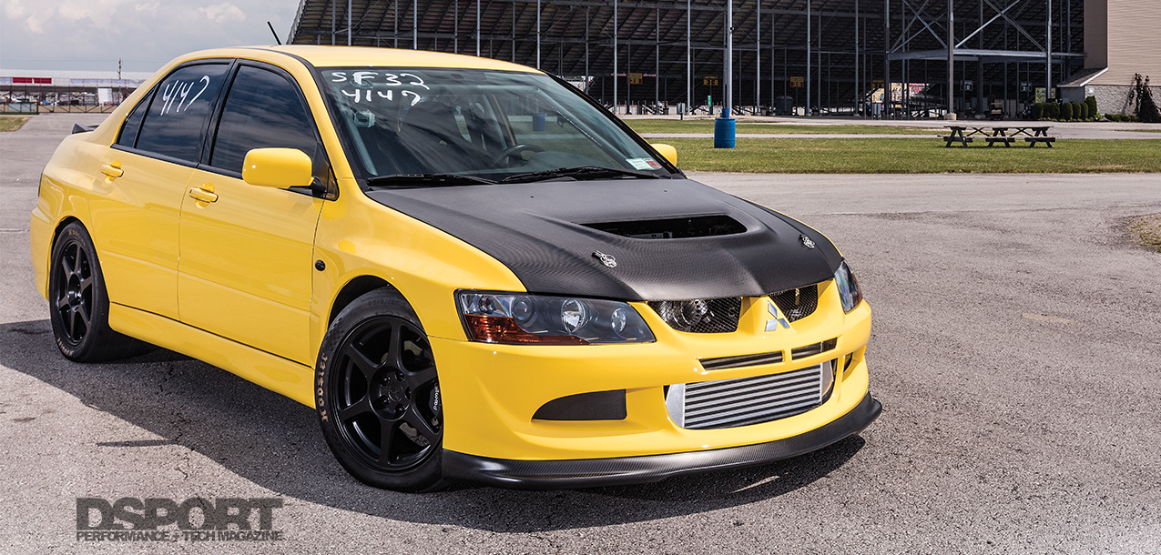 9-second EVO VIII runs at 53psi | Turbo Taxi - DSPORT Magazine