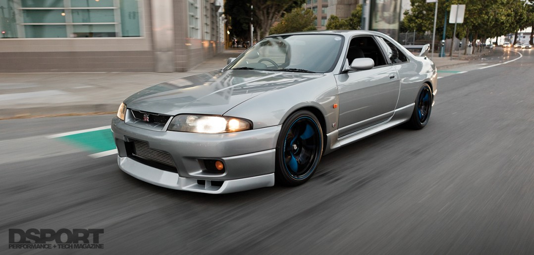 R33 driving on the road