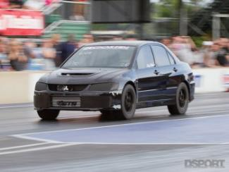 ETS EVO racing down the drag strip