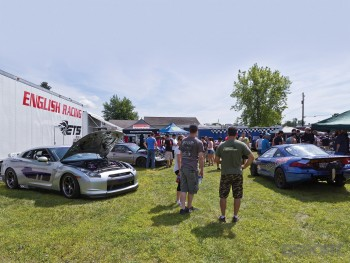 The english racing guys set up with their GTR and talon at the Buschur shootout dyno day
