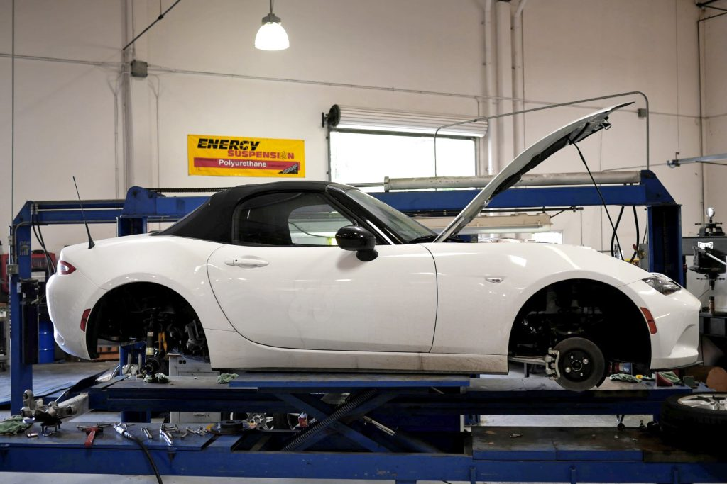 2016 Mazda MX-5 ND Miata on lift