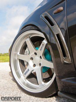 Volk Racing Wheels on Edwin's EVO X MR