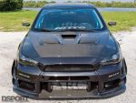 front of Edwin's EVO X MR