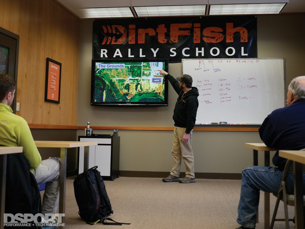 Class at the DirtFish Rally School