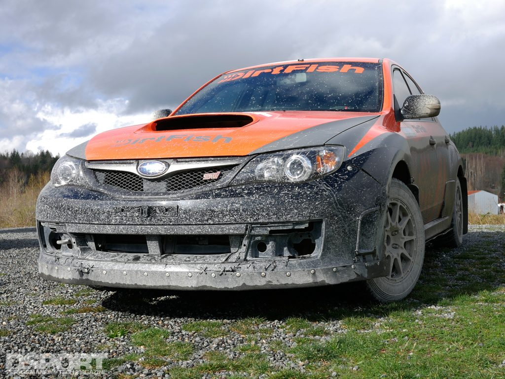Exterior of the STI used at the DirtFish Rally School