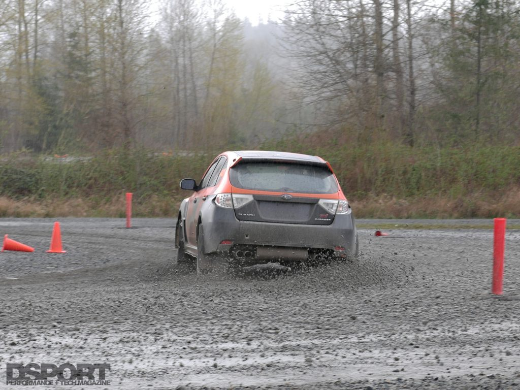 Taking the course at the DirtFish Rally School