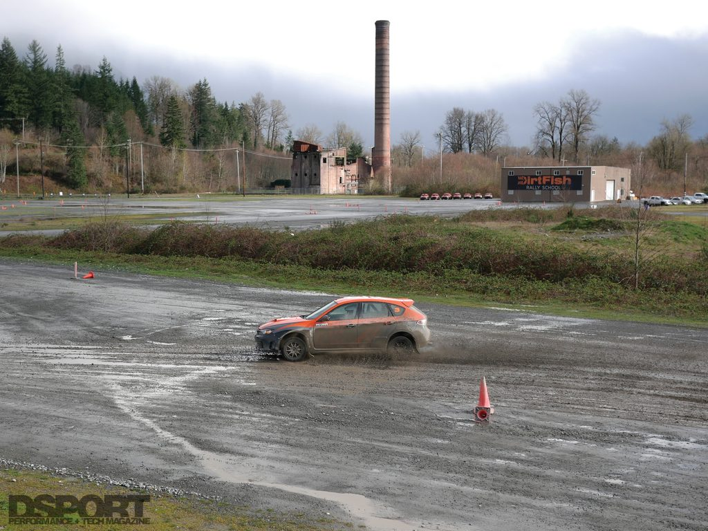Driving the Rally Course
