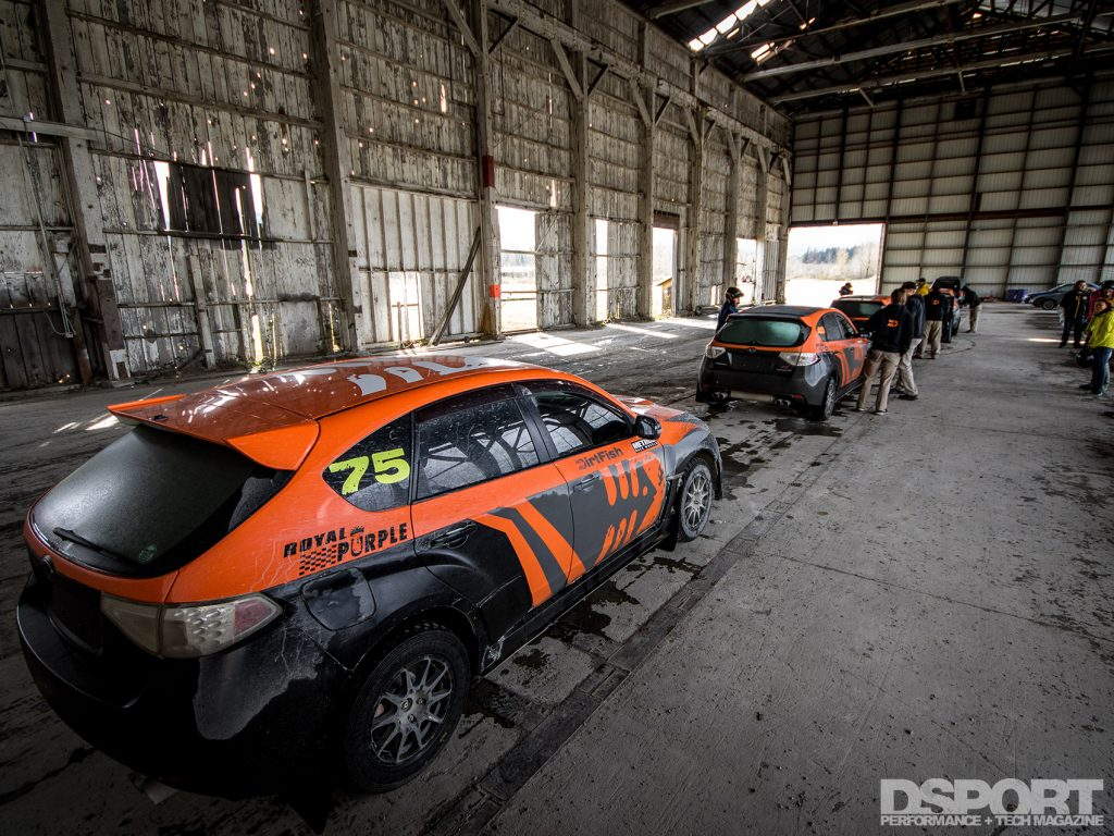DirtFish Rally School STI Line up