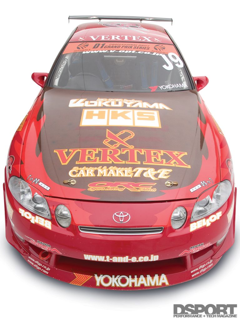 High angle view of Ueno's D1 1JZ Toyota Soarer