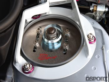 Stut tower in the HKS equipped Subaru STI