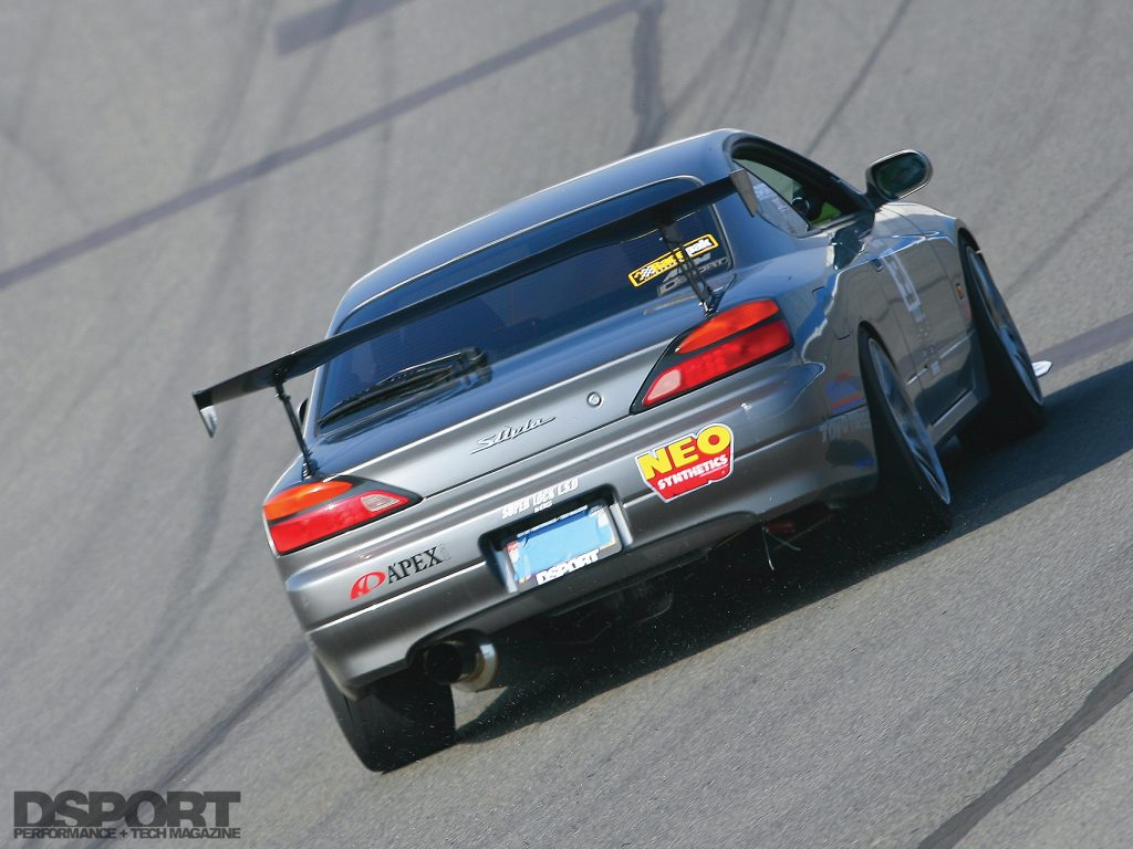 Silvia S15 taking laps on track