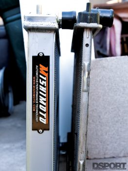 Comparing the Mishimoto radiator to the stock Silvia S15 one
