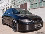 Front angle view of the 8 second EVO VIII