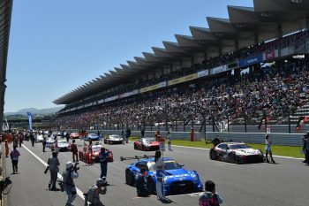 Japan Super GT Series starting grid