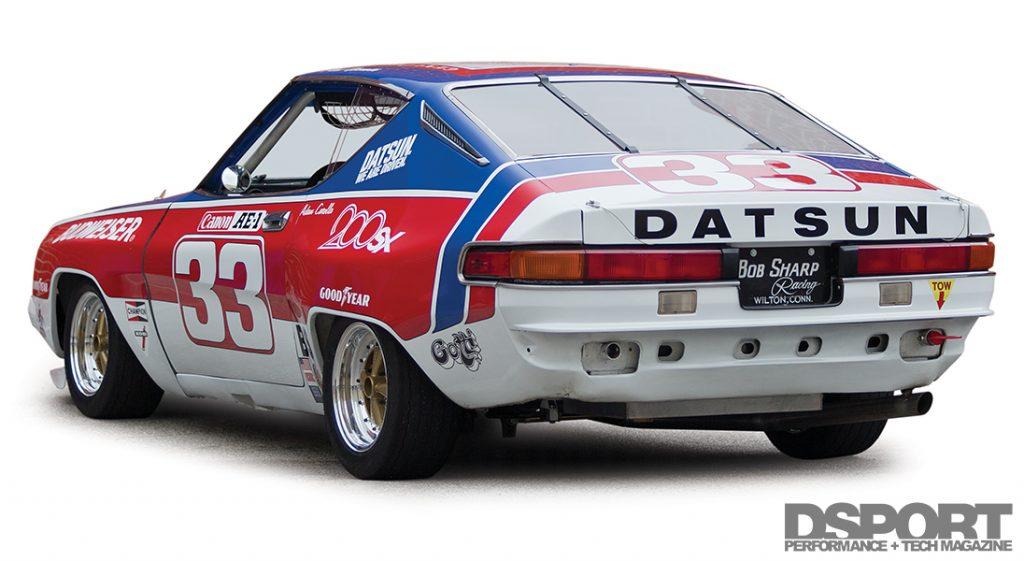 Back of Paul Newman's Datsun 200SX