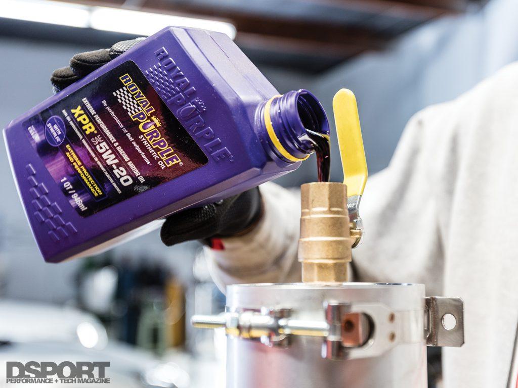 Break in oil for lubrication
