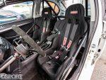 Kirkey seats in the Magnus built EVO X