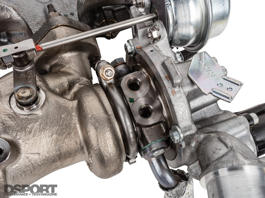 Water cooled turbo features for the ECOBOOST 1.6L