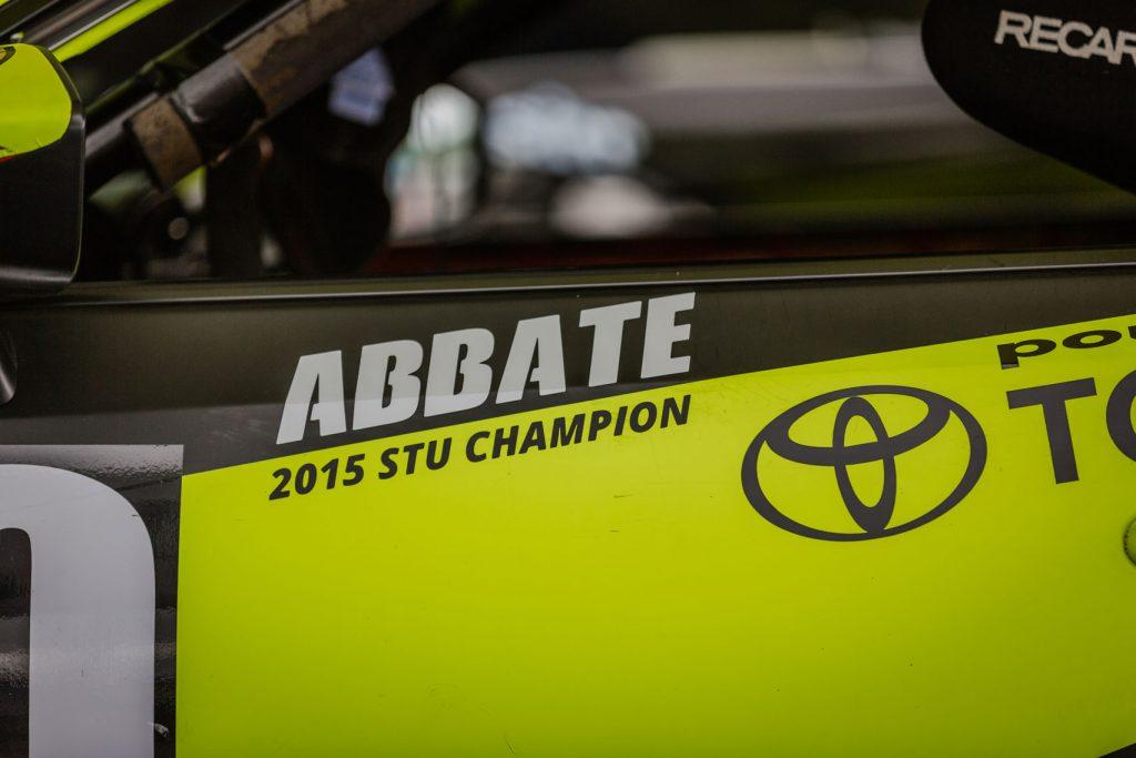 Decal showing 2015 SCCA STU class championship win
