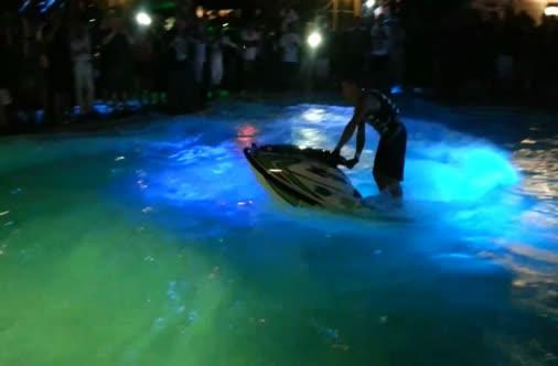Jet ski in pool