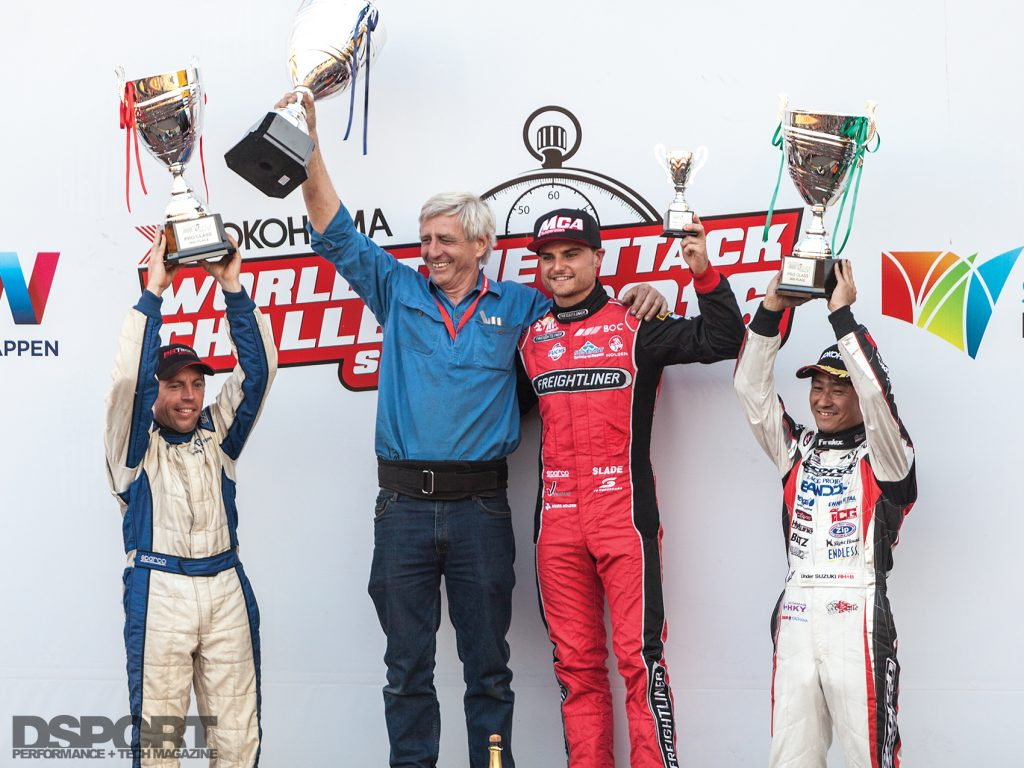 Winning podium at the 2016 World Time Attack Challenge