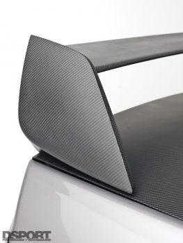 Carbon fiber spoiler wing on the Insane Speed 4G64 EVO IV