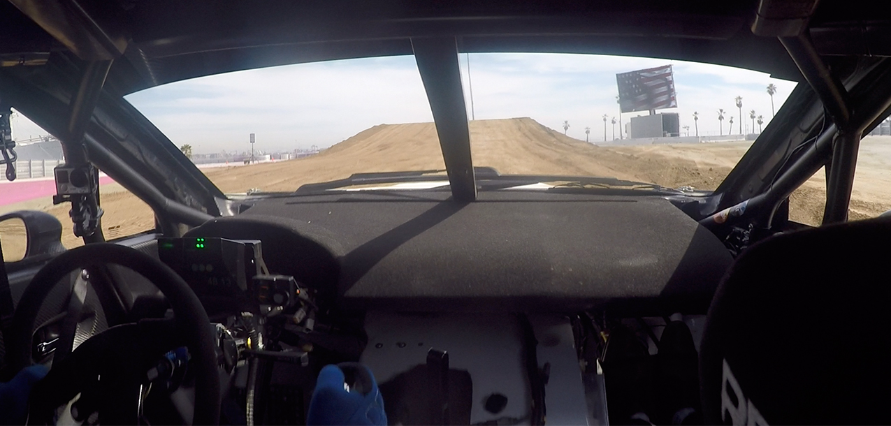 Riding in a Rallycross Subaru