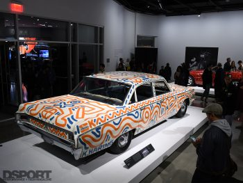Keith Haring Exhibit at the Pertersen Automotive Museum