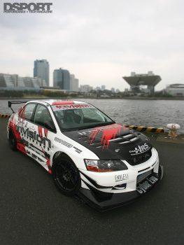 Mitsubishi EVO IX built for racing