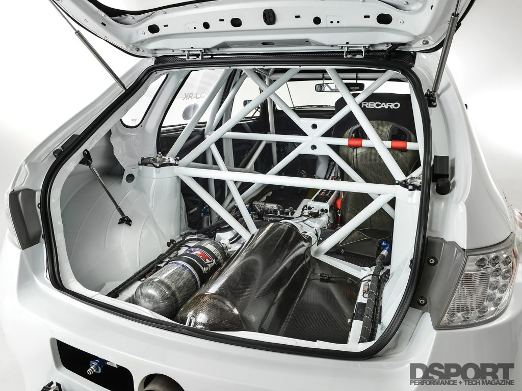Interior cage in the Gobstopper II from Roger Clark Motorsports
