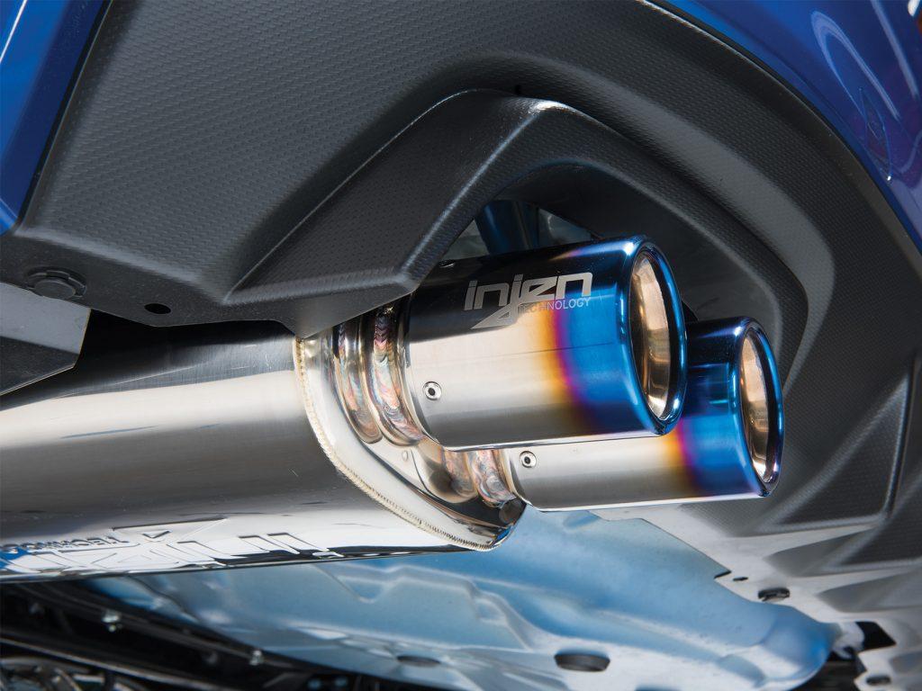 STI Injen Exhaust Installed