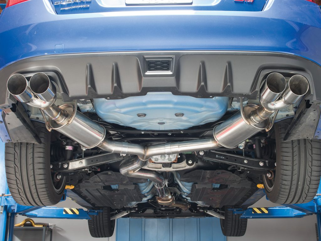 STI SubiSpeed Exhaust Installed