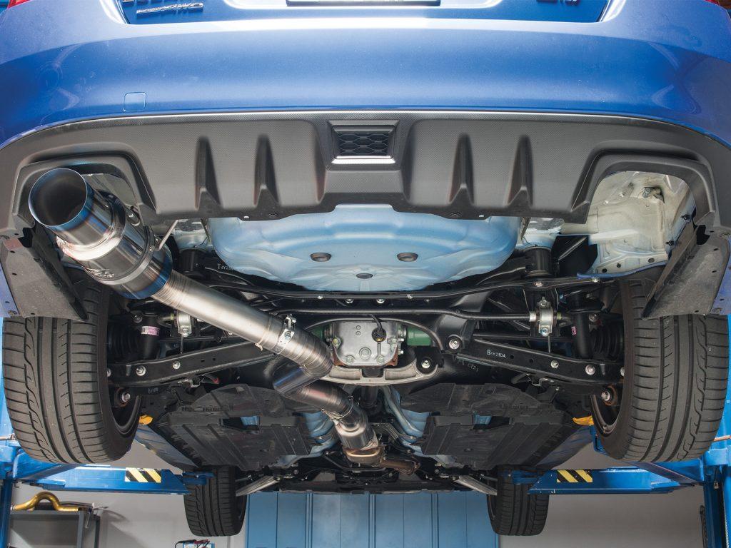STI Tomei Exhaust Installed