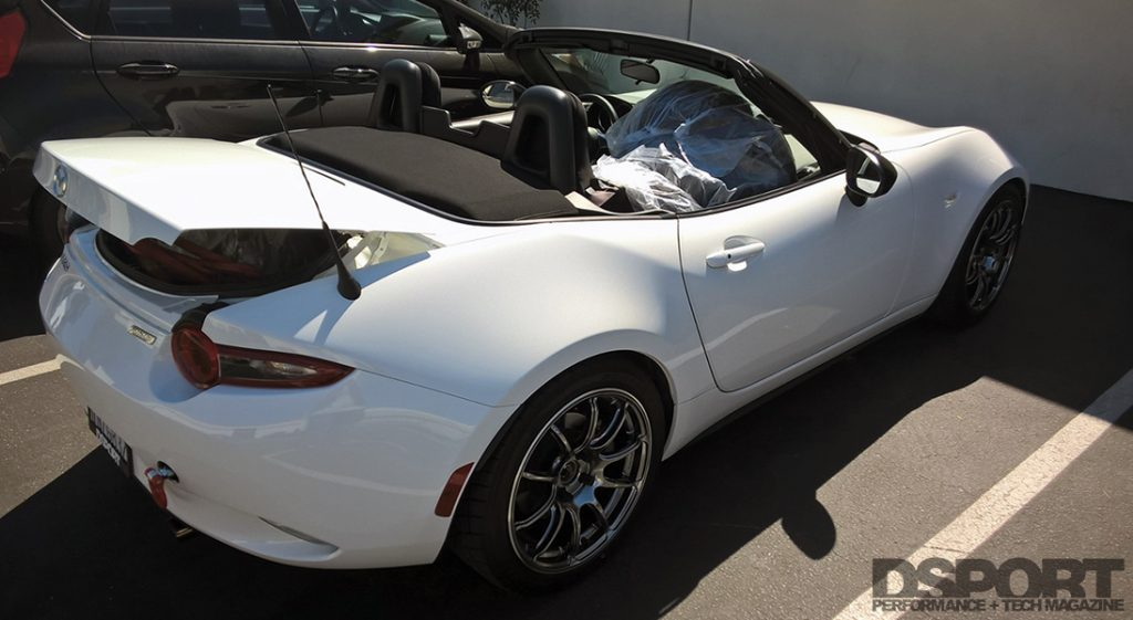 Project MX-5 Miata heading to the track
