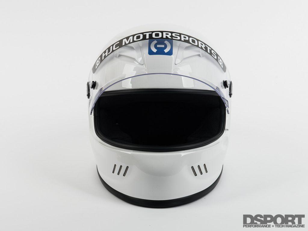 HJC White Helmet Visor