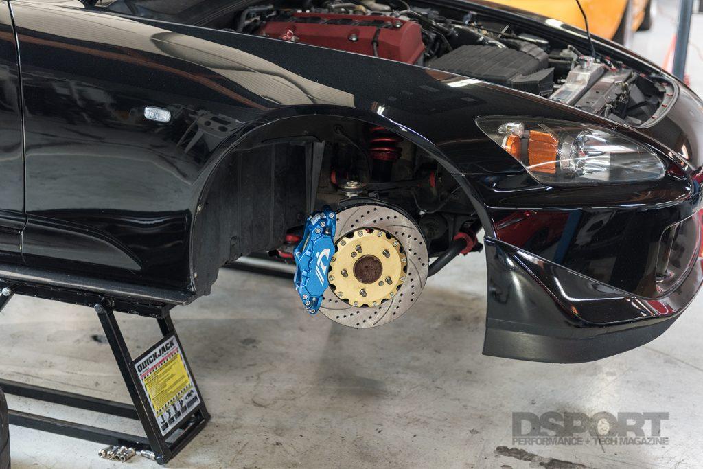 NEO Motorsport S2000 Big Brake Kit mounted