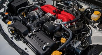 First Drive Wubaru BRZ ts STI Engine Bay