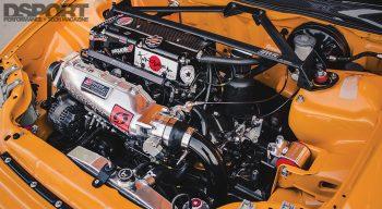 Supercharged Honda Civic Engine Bay