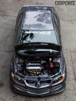 Mitsubishi Evo Top View