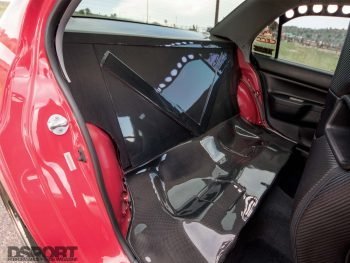 Mitsubishi Evo RS Rear Seat Delete