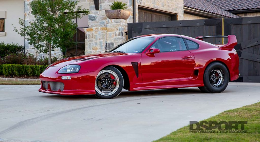 Dynosaur Performance partnered up with PowerHouse Racing to build this Supra. The 2JZ-GTE engine was machined and equipped with all high performance internals to achieve the desired power output.